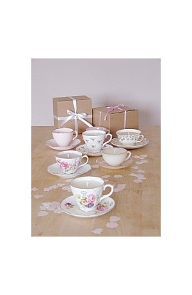 Tea Party Set of Ten Scented Teacup Candles