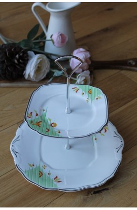 Mint Green Art Deco Style Cake Stand